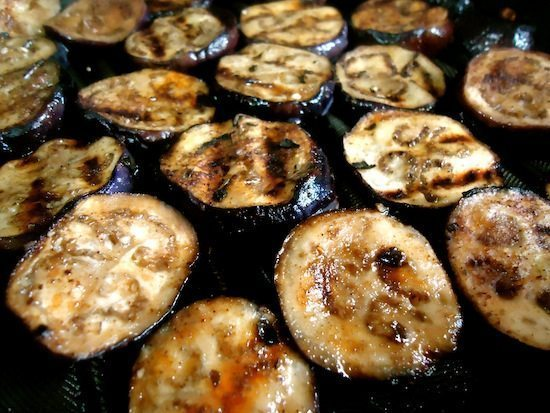 grilled eggplant & chard sandwich