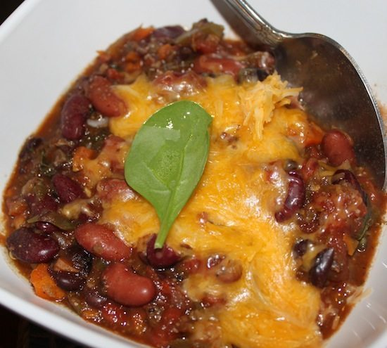 Veggies in chili