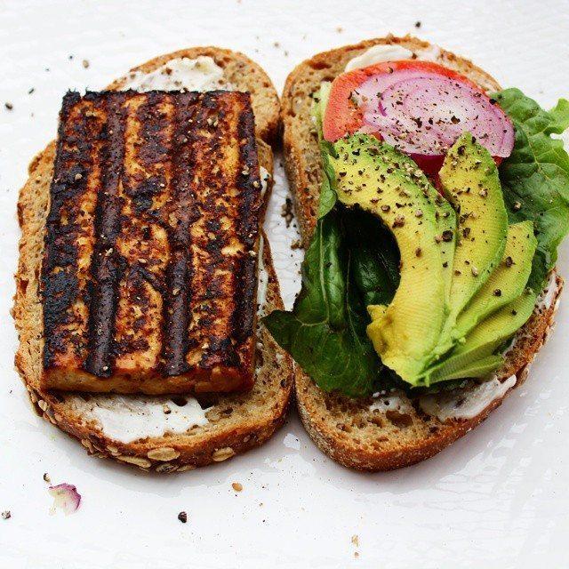 Grilled Sesame Tofu Sandwich - Food Heaven Made Easy