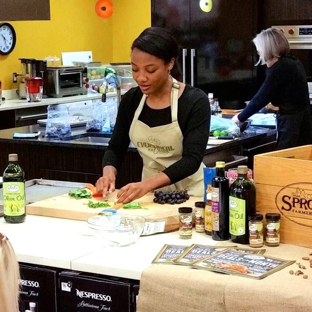 Marisa Cooking Demo Cook's Warehouse Sprouts