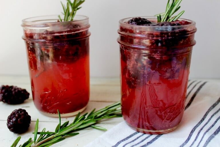 Rosemary Blackberry Spritzers
