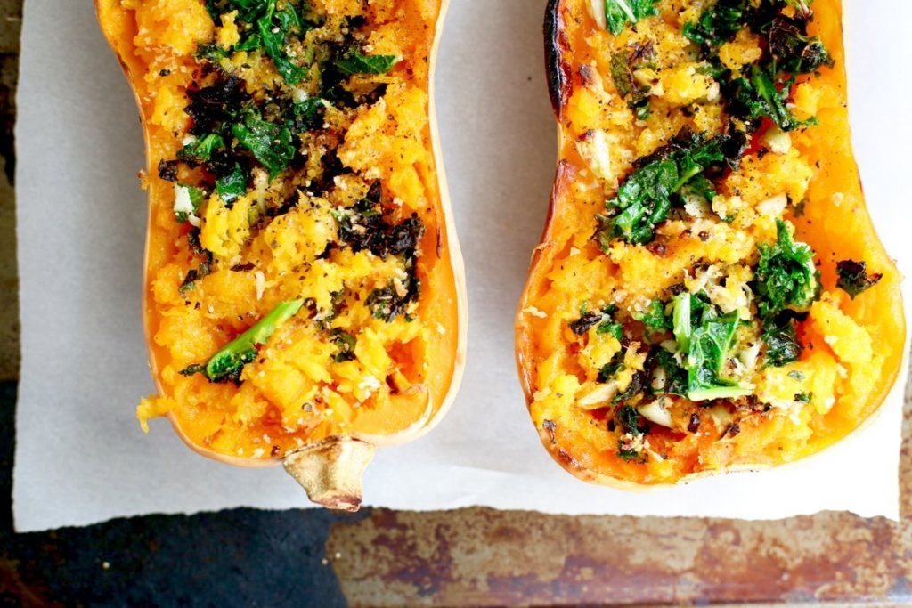 Roasted Kale Butternut Squash