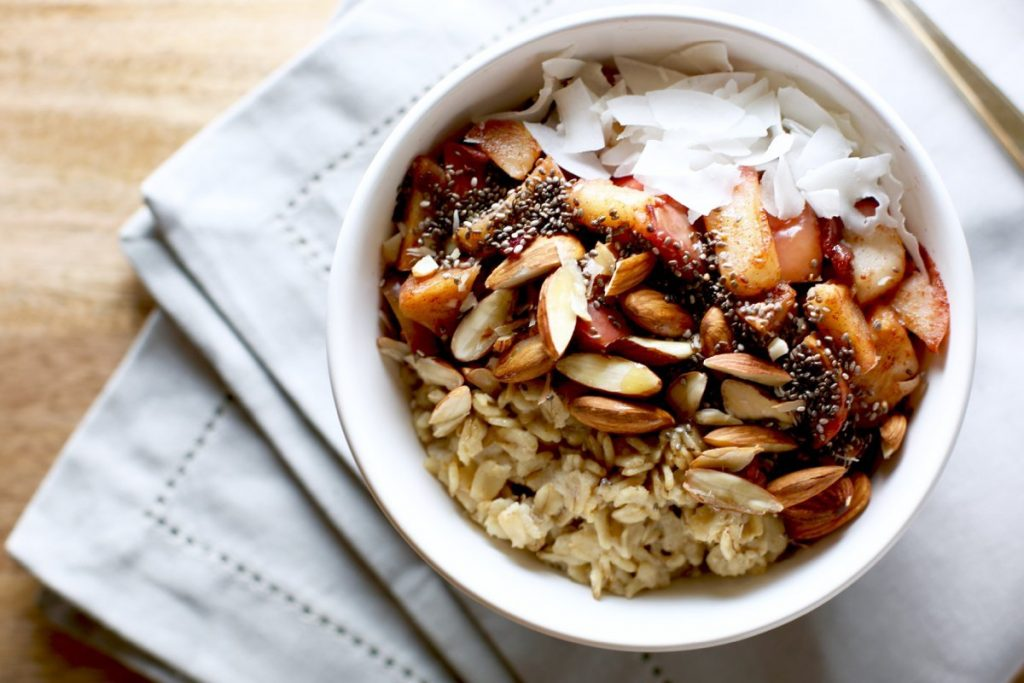 Spiced Apple Oatmeal Breakfast Bowl