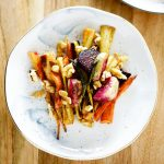 Roasted winter root vegetable salad topped with walnuts recipe ishellip