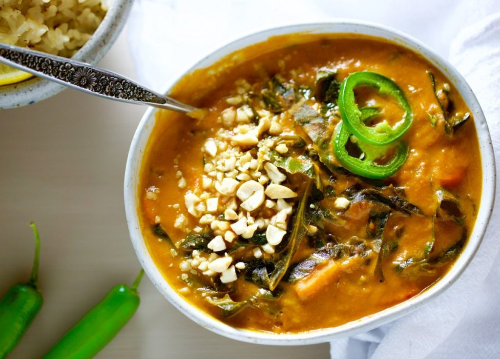 Vegetarian African Peanut Stew - Food Heaven Made Easy