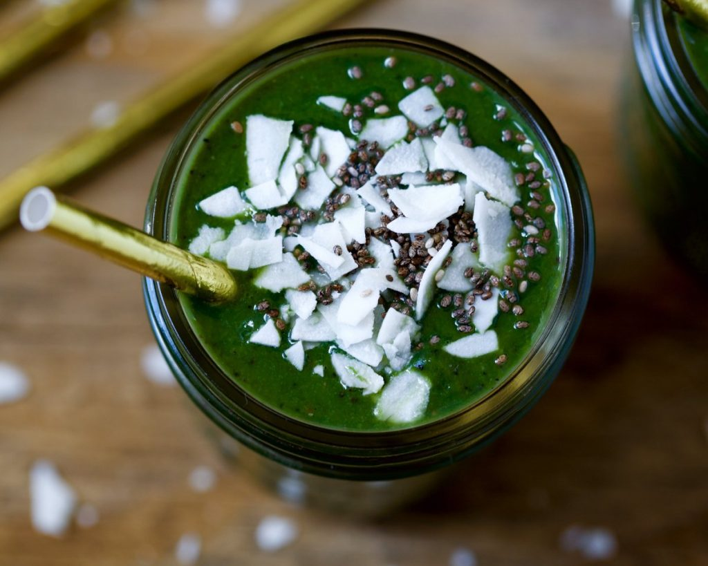 Creamy Spirulina Green Smoothie