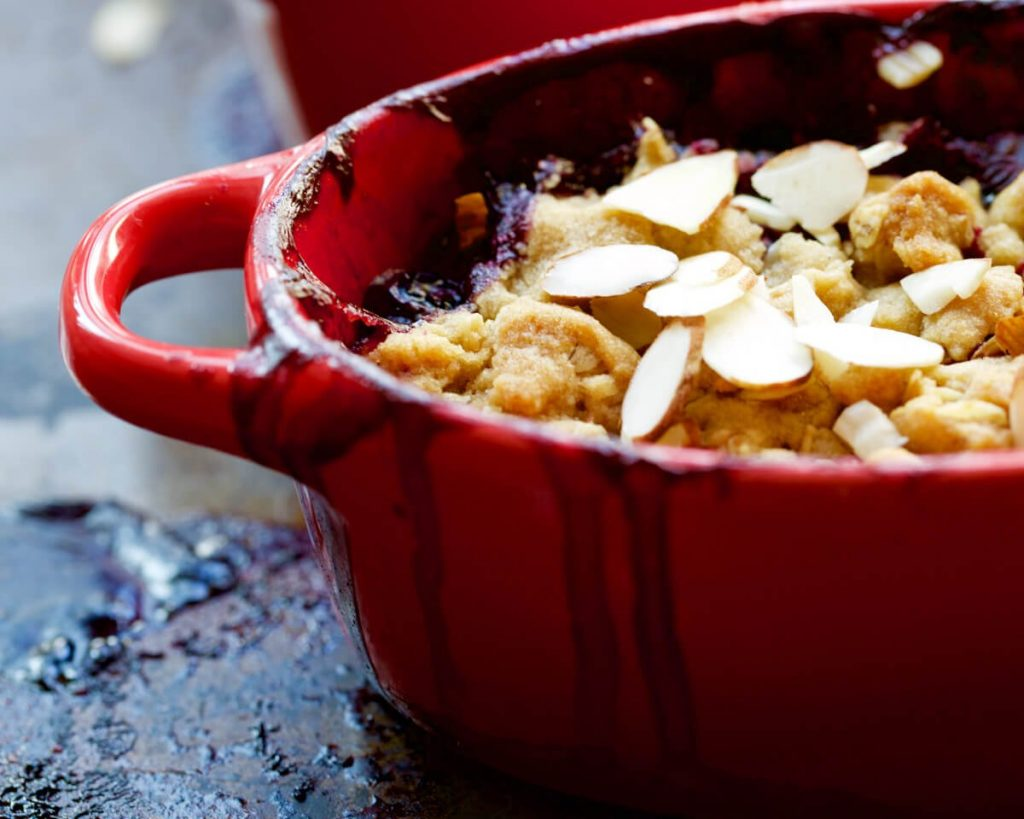 Warm Blueberry Crumble Recipe