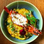 Butternut squash risotto with prawn is HITTING right now Balihellip