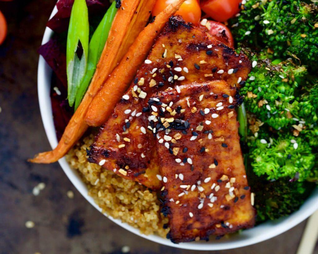 Simple Roasted Barbeque Tofu