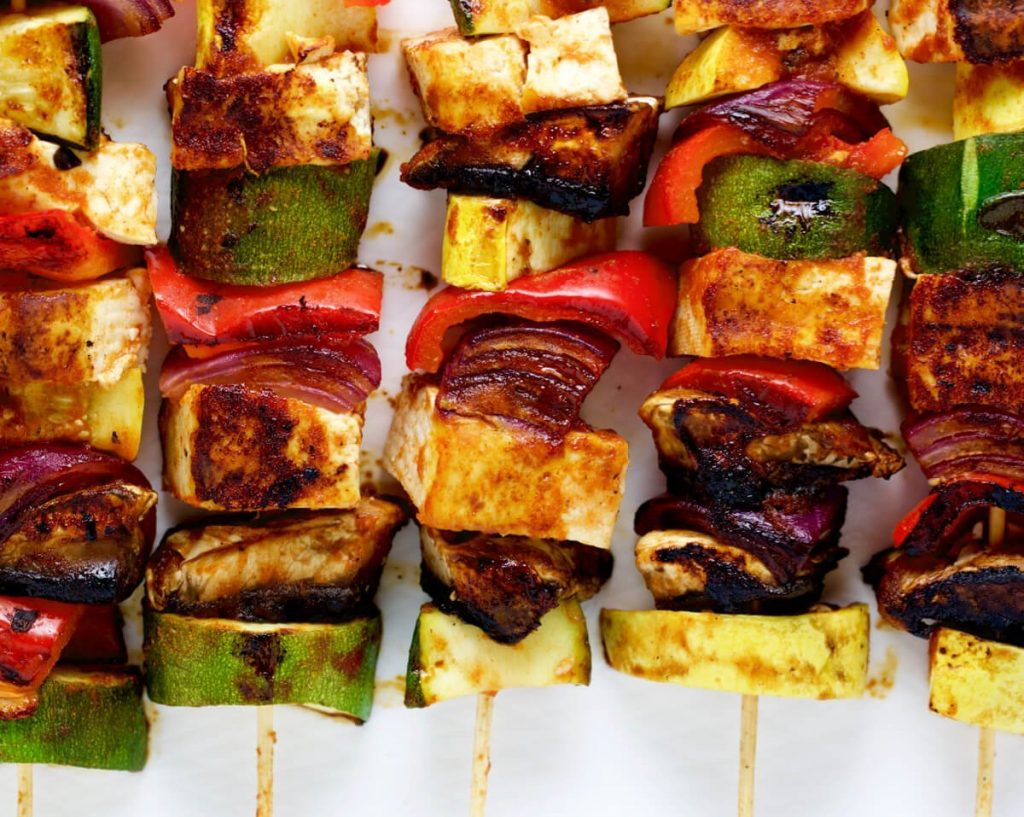 BBQ Tofu Vegetable Kebabs