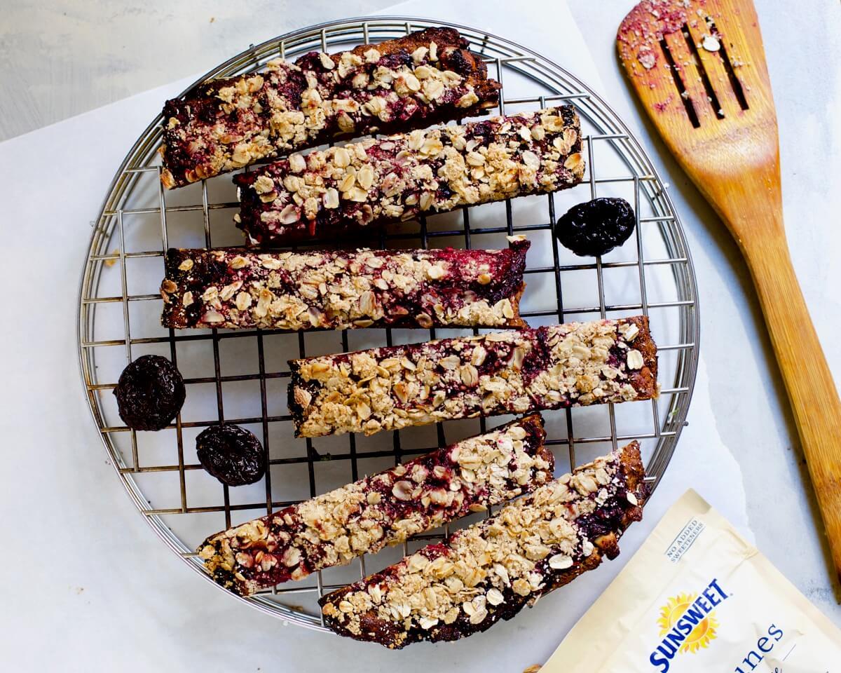 Prune Crumble Breakfast Bars