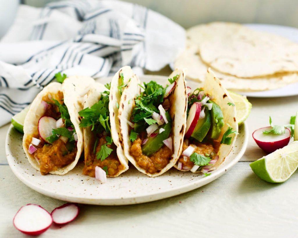 Slow Cooked Lentil Tacos