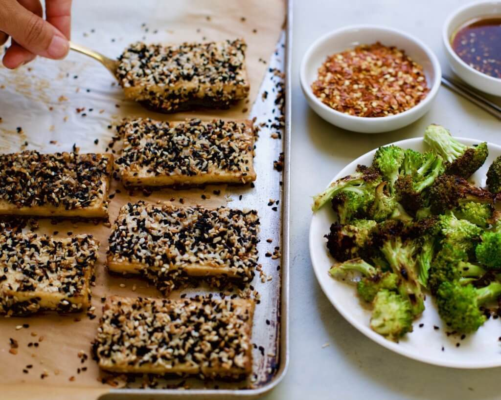 Sesame & Coconut Crusted Tofu