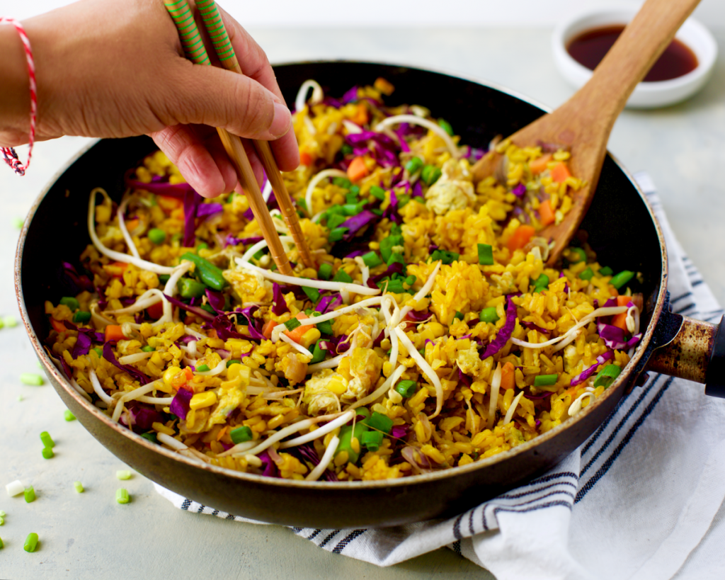 Turmeric Vegetable Fried Rice